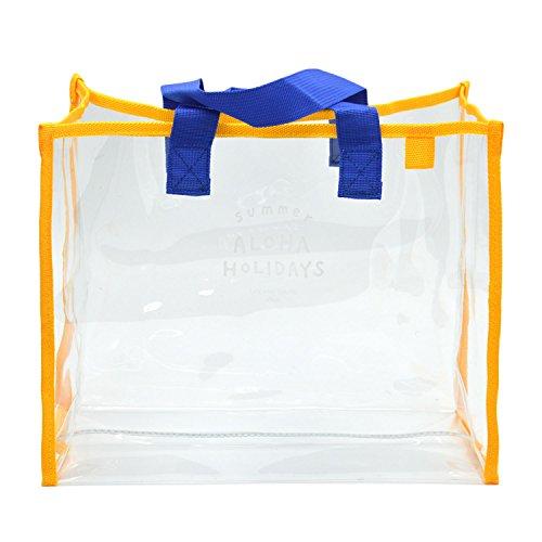 Gosear Transparent PVC Große Kapazität Beach Pool Schwimmbad Tote Hand Tasche für Beach Parks Picknicks Grillmöglichkeiten Camping Gelb