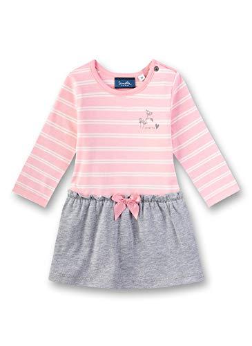 Sanetta Baby-Mädchen Dress Knitted Kleid, Rosa (Lolly 3053), 68 (Herstellergröße: 068)