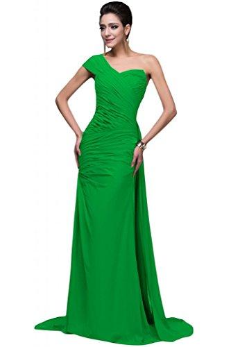 Sunvary Chiffon Una spalla apertura posteriore per longitudinale Pageant per vestiti da sera, varie taglie Apple Green