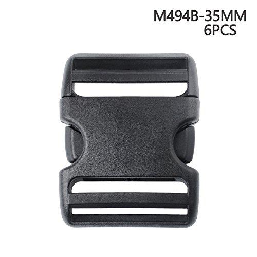 Seitliche Freigabe-Schnalel in mehreren Größen, robust, Kunststoff-Schnalle Schnelle Freigabe Schnalle, 35 mm (Release Schnalle Kragen)