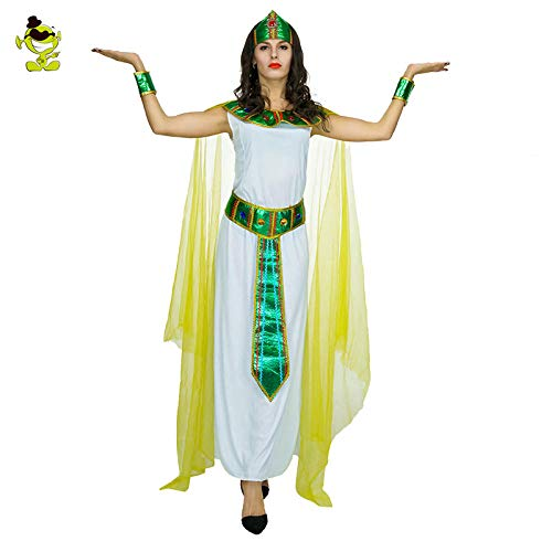 Ägyptischen Kostüm Prinzessin Frauen Ägyptische - GAOGUAIG AA Erwachsene frauen grün cleopatra mädchen kostüm ägyptischen pharao prinzessin königin kostüm for maskerade party cosplay SD (Color : Onecolor, Size : Onesize)