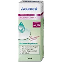 Acumed Hyaluron Monatskontaktlinse, -1.75 Dioptrien, 1 Stück