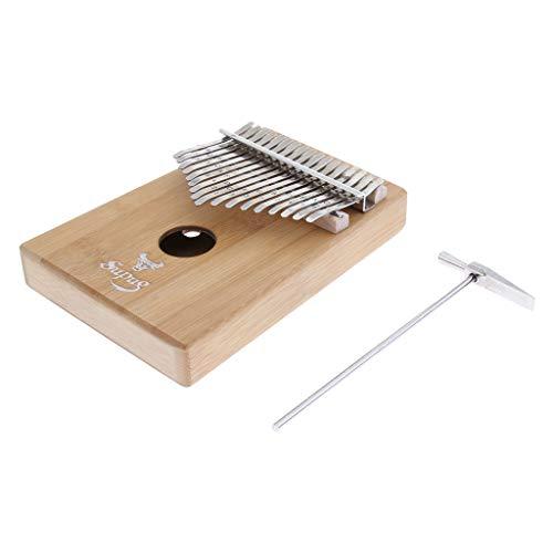 Holz Kalimba Daumenklavier Kinder Musikinstrument mit Stimmhammer , Tuning-Tool