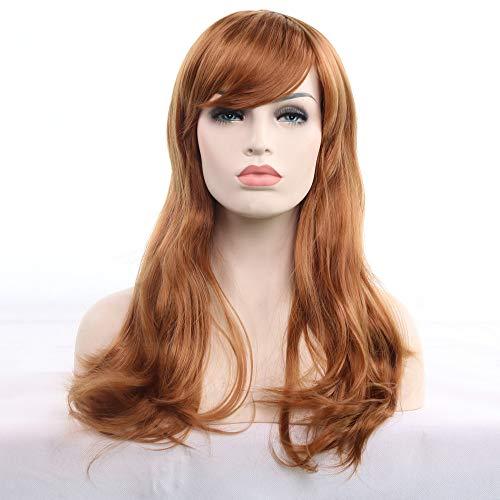(Junjie 70cm Frauen Hitzebeständiges Haar Blonde Lange Lockige Volle Perücke Rot/Lila/Schwarz/Royal Blue/Pink/Silber Weiß/Hellgold/Braun Gold/Gelb/Mintgrün)