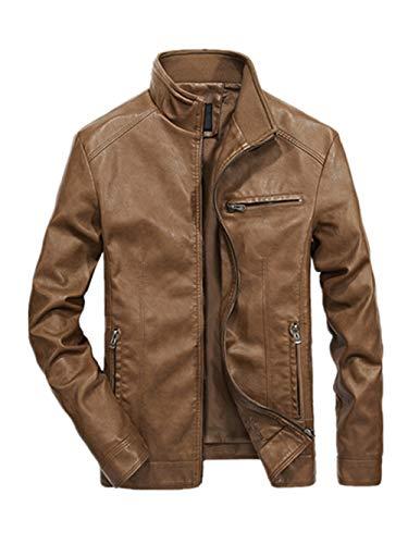 Hommes Veste avec Poche De Collier Imitation Manteau Vent Occlusion Veste Blouse Blouson Pardessus Hiver Autumne Casual Sweatshirt Sport Pullover Kaki XXXXL