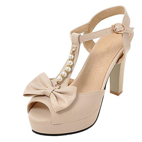 Peep E Ye Arco Planalto Salto Damasco Sapatos Com Toe Doce Damen Desliza Bloco Sandálias De 4zwEf
