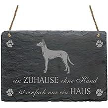 Pizarra podenco « un hogar sin perro es Simplemente un hogar » con diseño Slate Sign perro