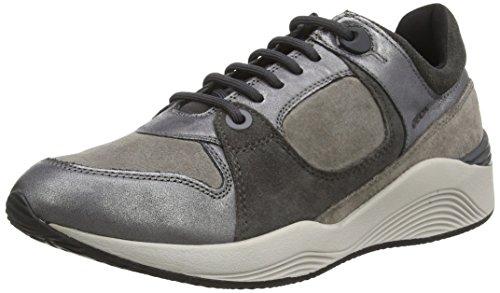 Geox Omaya A, Chaussures De Gym Pour Femme Gris (c1130 Graphite / Gris)