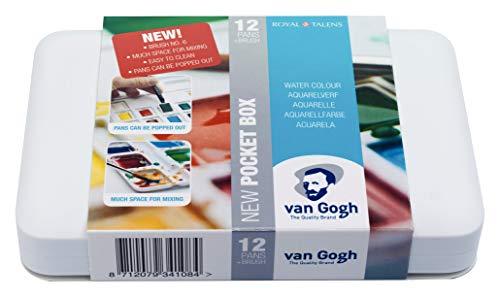 Van Gogh Watercolour Pocket Box - 12 Pan - Art Supplies Pan-box