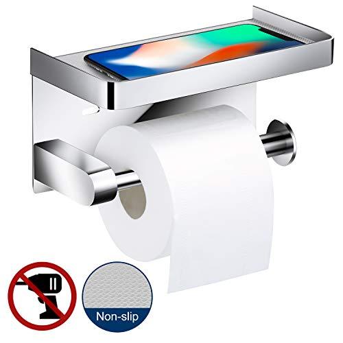Toilettenpapierhalter Ohne Bohren, Braoses 3M Selbstklebend Toilettenpapierrollenhalter 304 Edelstahl WC Halter Rollenhalter Klopapierhalter Papier für Küche und Badzimmer