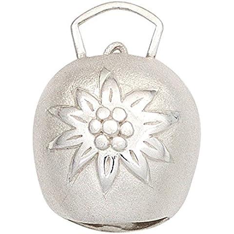 Ciondolo a forma di fiore in argento 925 con campanaccio al collo gioielli ciondolo in (Argento Campanaccio)