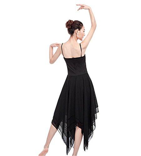 Ballet femme / danse moderne performance et jupe d'entraînement / robe Black