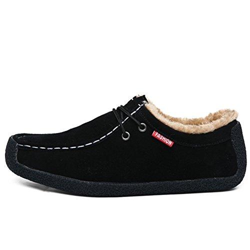 Winter und samt Bohne Boot/ männlich faule Leute Schuhe/Koreanische Version von Trend Sport-Schuhe/ Herrenschuhe/ Schnecke Schuhe A