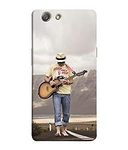 PrintVisa Designer Back Case Cover for Oppo Neo 5 :: Oppo A31 :: Oppo Neo 5S 2015 (Music Playing Guitar Sea Beach)