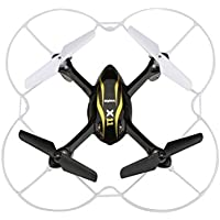 Syma X11 2.4GHz 4CH 6-Axis Gyro 360-degree Eversion Mini Remote Control Helicopter R/C Quadcopter Drone UFO with LED Lights Propeller Protector (Black)