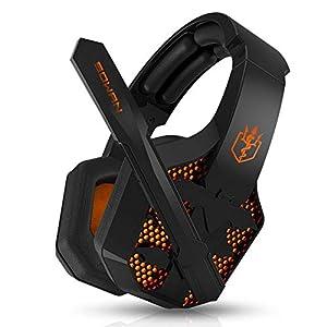 KARTELEI Spiel Kopfhörer 3,5 mm Stereo Lärm Isolation LED Licht Headset für PC, Xbox One, PS4, Nnintedo Schalter