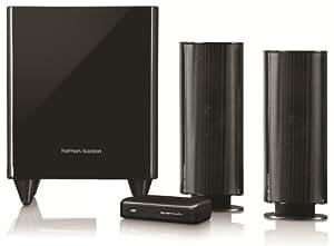 harman kardon hkts 200 bq w 2 1 syst me de haut parleur avec chargeur sans fil 300 w caisson de. Black Bedroom Furniture Sets. Home Design Ideas