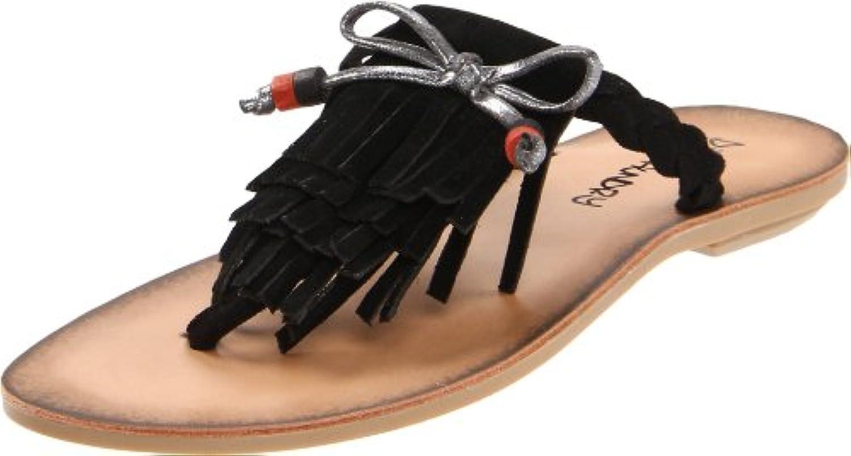 Dirty Laundry Behave Damen Schwarz Riemen Sandalen Schuhe Größe Neu EU 365