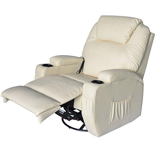 Poltrone Relax Tv.Outsunny Poltrona Relax Massaggio Reclinabile A 8 Punti