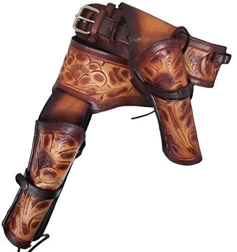 Modestone 44/45 Western Right Cross Draw Double Pistolengürtel Leather 44 -