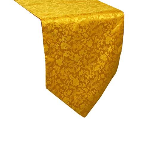 rter Seidenstoff, maschinenwaschbar, alltäglichen Küchentischläufer für Dinner Parties, Events, Dekor 33x200cm-rot, gelb, lila, 1 PC (Color : Yellow) ()