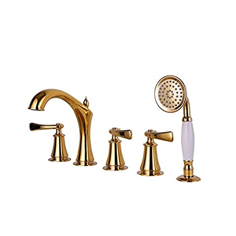 Bath/Shower Mixer with five piece of cover/Shower head sit /Cylinder type hot and cold taps-A