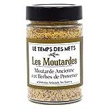 le temps des mets moutarde ancienne aux herbes de provence - 190g