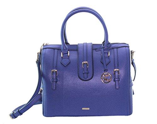 Stella Maris Damen STMB601-06 Diamant Handtasche Henkeltasche Schultertasche Umhängetasche mit abnehmbarem Schulterriemen und Taschenorganisator, aus Leder blau B 29 x H 26,5 x T 16,5