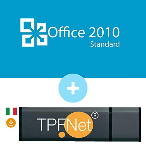 MS Office 2010 Standard 32 bit & 64 bit - Licenza Originale con una Chiavetta USB di TPFNet