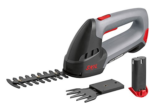 Skil 0750AA Sculpte Haie et Cisaille à Gazon sans Fil 4,8V (2 Batteries 1,3Ah, Batterie rechange, Chargeur, 2 Lames, Easy...