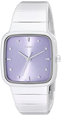 Rado Women's R28382342 R5.5 White Ceramic Watch with Link Bracelet by Rado