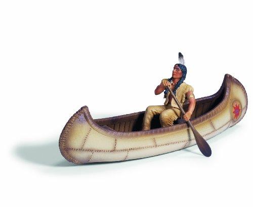 Schleich 42013  - Indianer, Kanu mit Figur