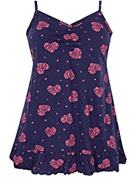 9fe857c2f692c9 Yours Clothing Women's Plus Size & Pink Heart Pyjama Top