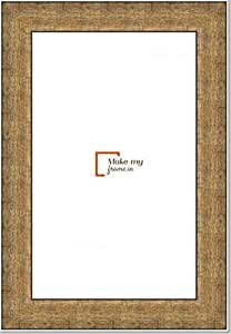 11x34 Inch Photo / Picture Frame in Champagne Gold finish. For framing Documents, photos, Artwork, K319 Series - 1.22 inch wide moulding