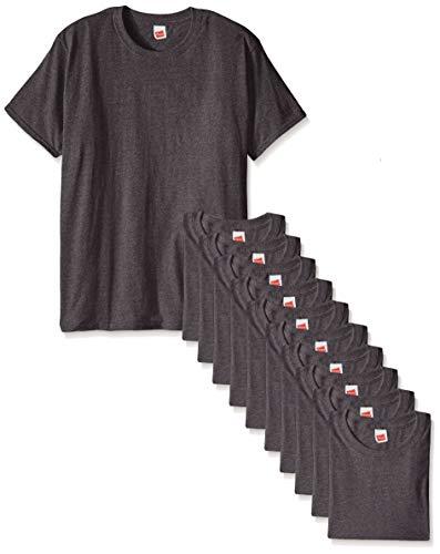 Hanes Herren T-Shirt ComfortSoft Short Sleeve (12 Stück) - grau - 4X-Large -