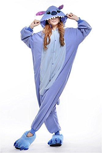 VU Roul Einteiler / Onesie Lilo und Stitch, Kleidung für Erwachsene, Cosplay-Kostüm, Schlafanzug Gr. S, Blau, Stitch