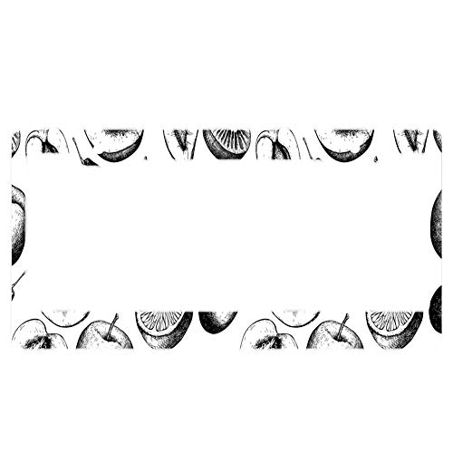 Aluminum License Plate Frame Funny Custom Camouflage Print Metal Tag Holder 12 x 6 Inch 2 Packs