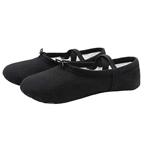 Chengxin Tanzschuhe Sommer Erwachsene Weichen Boden Tanzschuhe Kinder Ballettschuhe Praxis Schuhe Yoga Schuhe Katze Klaue Schuhe Frauen 2 Pairs Schuhe (Color : Black, Size : 44EU)