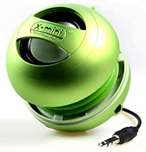 X-Mini II 2nd Generation Capsule Speaker with 3.5mm Jack Compatible with iPhone/iPad/iPod/Smartphones/Tablets/MP3 Player/Laptop - Green