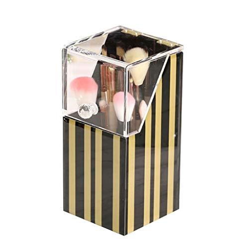 Jia He Stifthalter Einfache glas acryl make-up pinsel rohr flip staub desktop schminktisch aufbewahrungsbox schönheit pinsel aufbewahrungsrohr @@