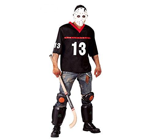 Hockey-Spieler Halloween Kostüm für Herren Halloween Horror Killer Gr. M/L, Größe:L (Hockey Spieler Halloween Kostüm)