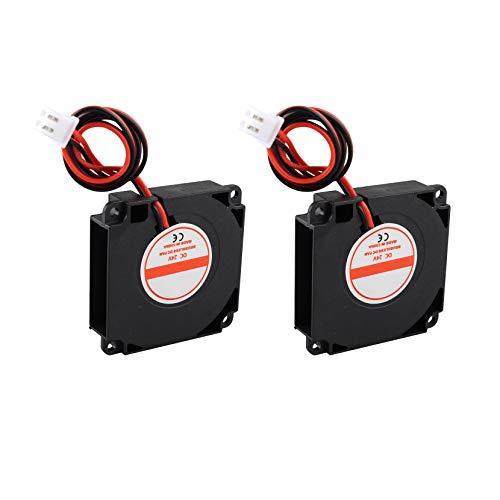 2 Stück bürstenloser Ventilator DC 24 V Kühler 4010 0,06 A 40 mm x 40 mm x 10 mm 3D Drucker Lüfter Hydraulischer Turbo Lüfter mit XH2.54-2P Draht für 3D-Drucker -