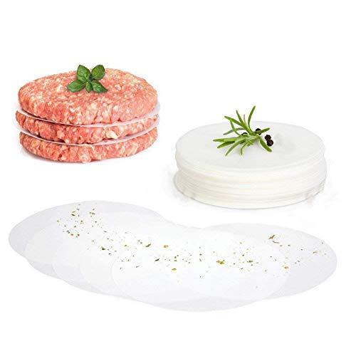 Cozypony 120 Stück Wachspapierscheiben Antihaft Hamburger Patty Papier für Rind, Truthahn-Bison 11 cm (Hamburger Patty-papier)