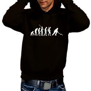 EISHOCKEY evolution ICEHOCKEY - Sweatshirt mit Kapuze - Hoodie schwarz Gr.XS