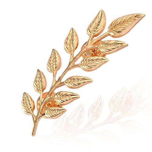 LFDXZ lebensechte Gelbgold Leaf Brosche Dorn Pin für Kragen