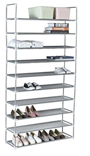 Zapatero de 10 niveles para 40 pares de zapatos extensibile 86x28x174 cm