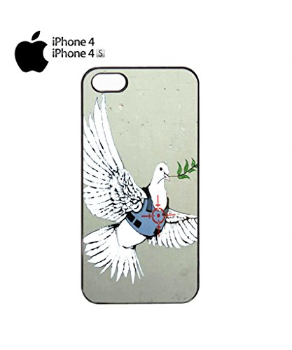 Banksy Peace War Bird Peagon Target Cell Phone Case Cover iPhone 5c Black Noir
