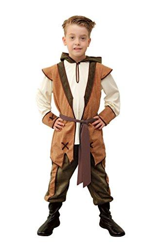 obin Hood Kostüm Kinder Jungen Kinder-Kostüm Räuber Mittelalter Bogenschütze Größe 140 (Halloween-kostüm-räuber)