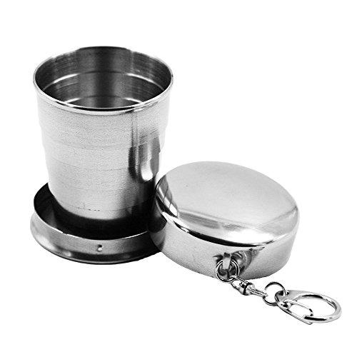 ZNYSTAR Tazza Pieghevole in acciaio inox Cup Viaggio Di Campeggio Esterno