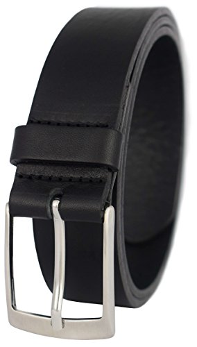 PREMIUM Ledergürtel in schwarz und braun aus echtem Vollrindleder – Ideal als Jeans-Gürtel, Anzug-Gürtel & Business-Gürtel – Leder-Gürtel für Damen & Herren – 3,5 cm breit – SEHR HOCHWERTIG